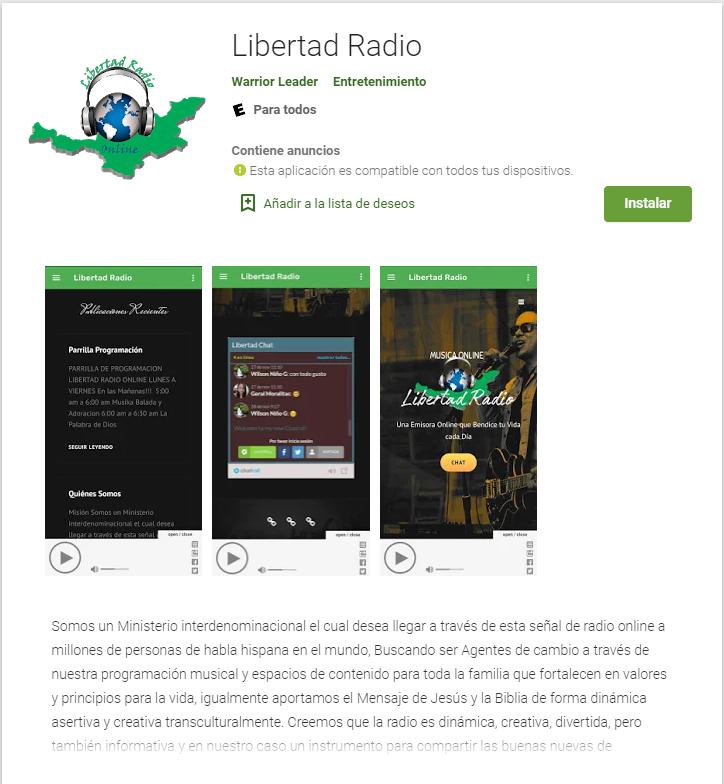 App Libertad Radio